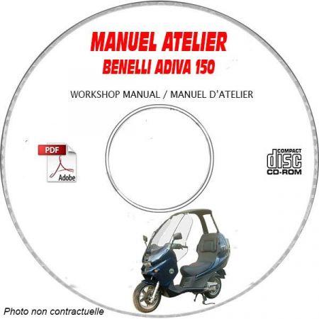 ADIVA 150 -00 Manuel Atelier CDROM BENELLI Anglais