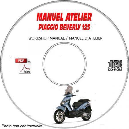 BEVERLY 125 -07 Manuel Atelier CDROM PIAGGIO FR