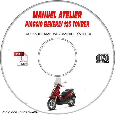 BEVERLY TOURER 125 -07 Manuel Atelier CDROM PIAGGIO FR