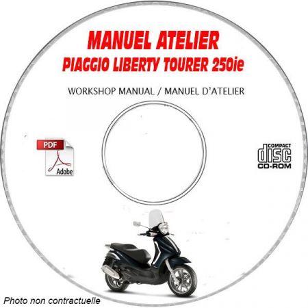 BEVERLY TOURER 250ie -07 Manuel Atelier CDROM PIAGGIO FR