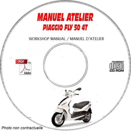 FLY 50 4 temps -07 Manuel Atelier CDROM PIAGGIO FR