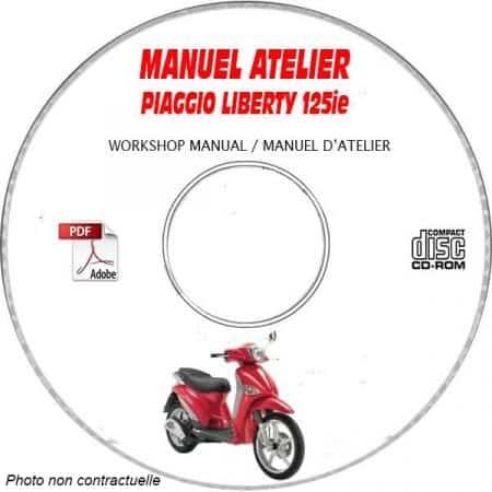 LIBERTY 125ie 10 Manuel Atelier CDROM PIAGGIO FR