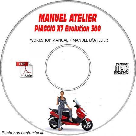 X7 EVO 300ie -08 Manuel Atelier PIAGGIO CDROM FR