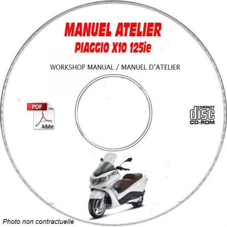 X10 125ie -13 Manuel Atelier PIAGGIO CDROM FR