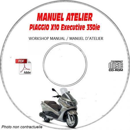 X10 EXECUTIVE 125ie ABS -13 Manuel Atelier PIAGGIO CDROM