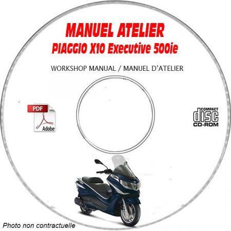 X10 EXECUTIVE 500ie ABS -13 Manuel Atelier PIAGGIO CDROM