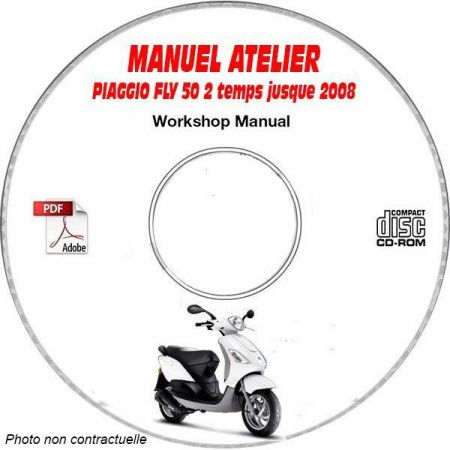 FLY 50 2 temps -08 Manuel Atelier CDROM PIAGGIO FR