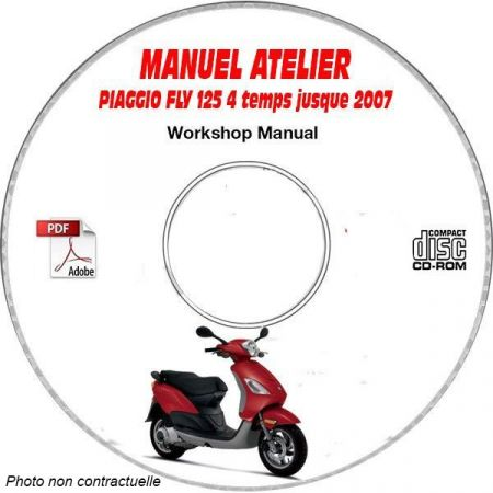 FLY 125 4 temps -07 Manuel Atelier CDROM PIAGGIO FR
