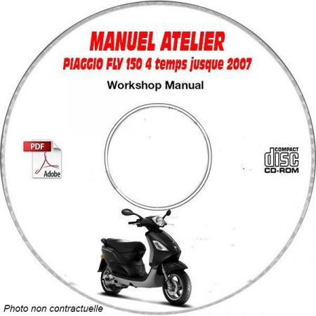 FLY 150 4 temps -07 Manuel Atelier CDROM PIAGGIO FR