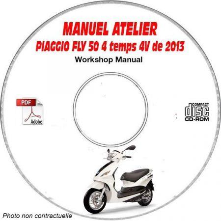 FLY 50 4 temps 4V 2013 Manuel Atelier CDROM PIAGGIO FR