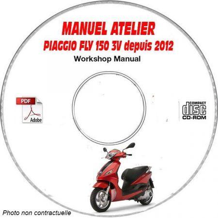 FLY 150ie 3V 12- Manuel Atelier CDROM PIAGGIO FR