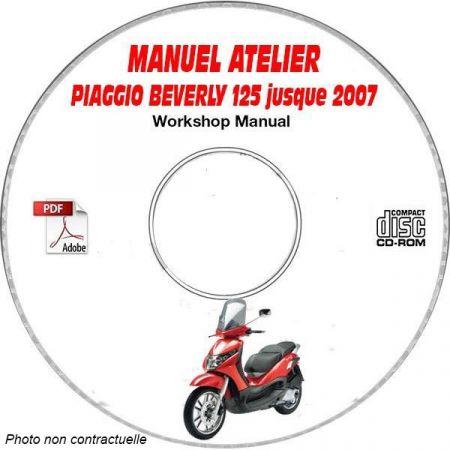 BEVERLY 125-2 -07 Manuel Atelier CDROM PIAGGIO FR