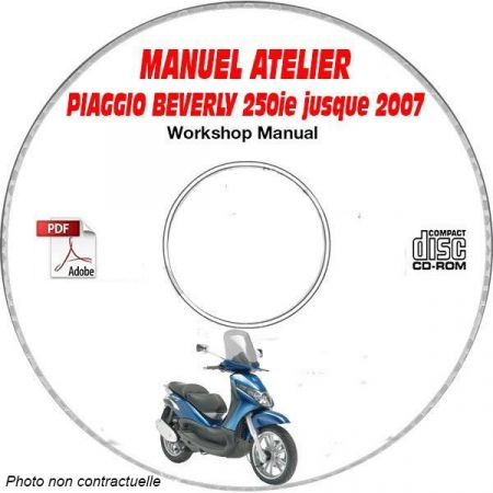 BEVERLY 250ie -07 Manuel Atelier CDROM PIAGGIO FR
