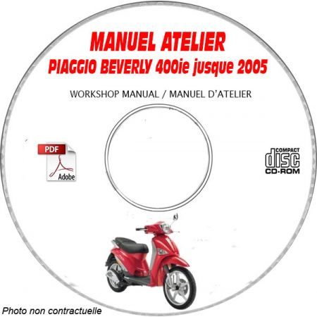 BEVERLY 400ie -05 Manuel Atelier CDROM PIAGGIO FR