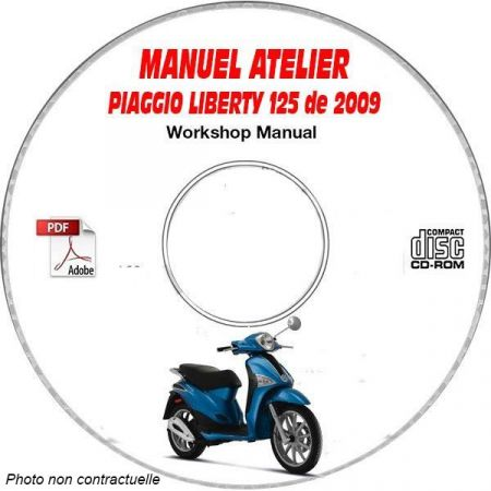 LIBERTY 125 09 Manuel Atelier CDROM PIAGGIO FR