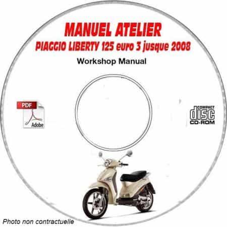 LIBERTY 125 EURO 3 -08 Manuel Atelier CDROM PIAGGIO FR