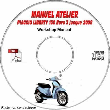 LIBERTY 150 EURO 3 -08 Manuel Atelier CDROM PIAGGIO FR