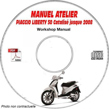LIBERTY 50 CATALISE -08 Manuel Atelier CDROM PIAGGIO FR