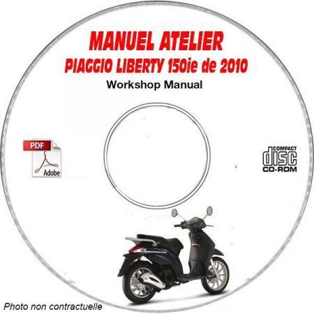 LIBERTY 150ie 10 Manuel Atelier CDROM PIAGGIO FR