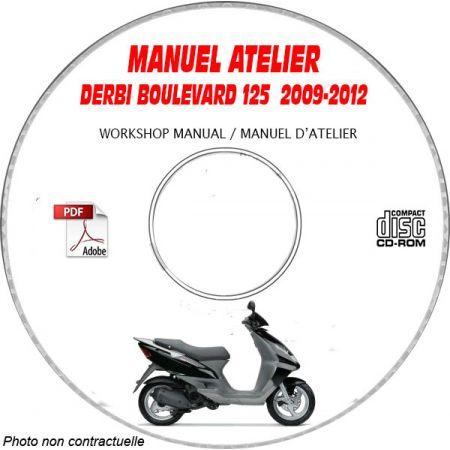 BOULEVARD 125  Manuel Atelier CDROM DERBI Revue technique