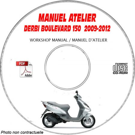 BOULEVARD 150 09-12 - Manuel Atelier CDROM DERBI Revue technique