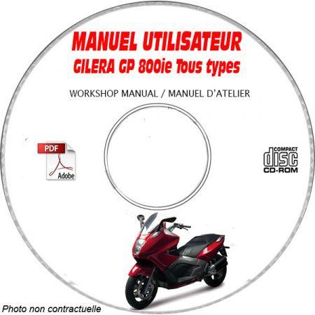 GP 800ie -08 Manuel Utilisateur CDROM GILERA FR