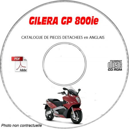 GP 800ie -08 Cagtalogue Pieces CDROM GILERA