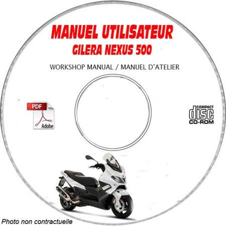 NEXUS 500 -07 Manuel Utilisateur CDROM GILERA FR