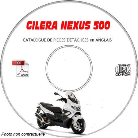 NEXUS 500 SP Catalogue Pièces CDROM GILERA Anglais