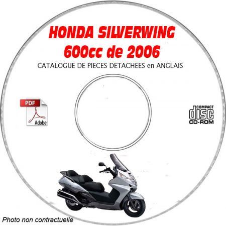 SILVERWING 600 06 - Catalogue Pieces CDROM HONDA