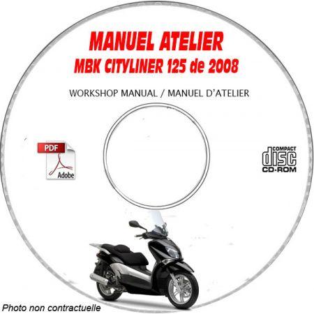 CITYLINER 125 2008 Manuel Atelier CDROM MBK