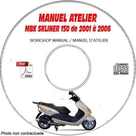 SKYLINER 125 01-06 Manuel Atelier CDROM MBK