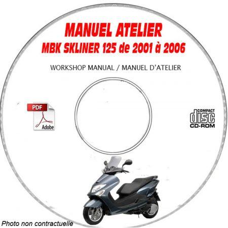 SKYLINER 125 06- Manuel Atelier CDROM MBK