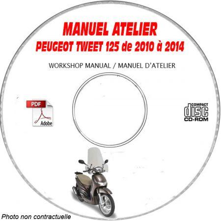 TWEET 125 10-14 - Manuel Atelier CDROM PEUGEOT
