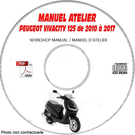 VIVACITY 125 10-17 - Manuel Atelier CDROM PEUGEOT