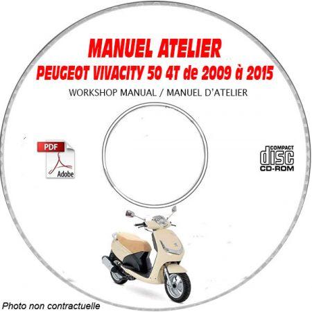 VIVACITY 50 4T 09-15 - Manuel Atelier CDROM PEUGEOT