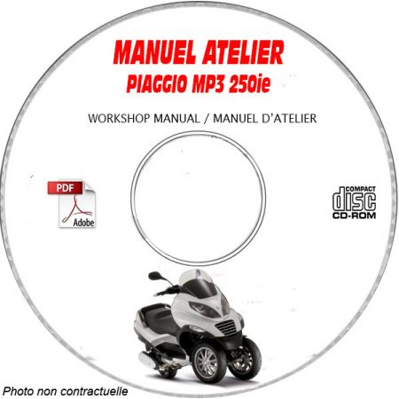 MP3 250ie - Manuel Atelier PIAGGIO CDROM Revue technique
