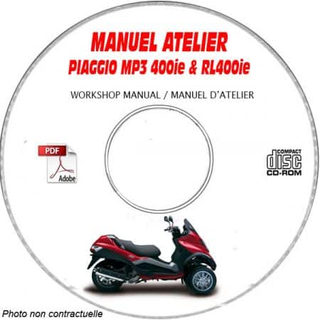 MANUEL D'ATELIER MP3 400ie + 400ie RL