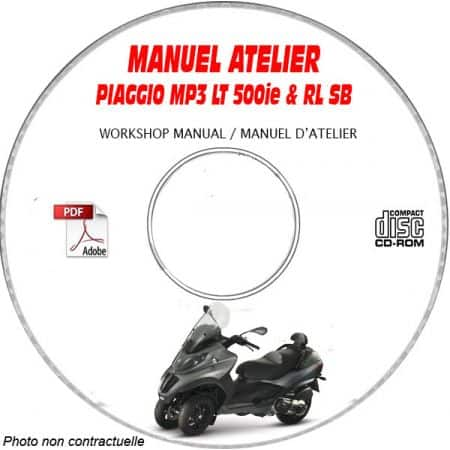 MP3 LT 500ie SPORT Business Manuel Atelier CDROM PIAGGIO Revue technique
