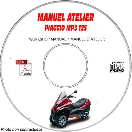 MP3 125 Manuel Atelier PIAGGIO CDROM Revue technique