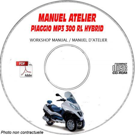 MP3 300 RL Hybrid - Manuel Atelier PIAGGIO CDROM Revue technique