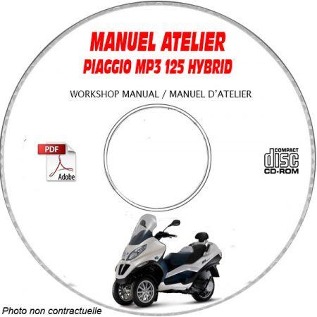 MP3 125 Hybrid - Manuel Atelier PIAGGIO CDROM Revue technique
