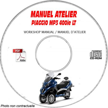 MP3 LT 400ie Manuel Atelier CDROM PIAGGIO Revue technique