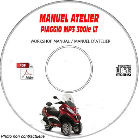MP3 LT 300ie 08 Manuel Atelier CDROM PIAGGIO Revue technique