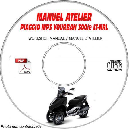 MP3 YOURBAN 300ie LT -08 Manuel Atelier CDROM PIAGGIO FR