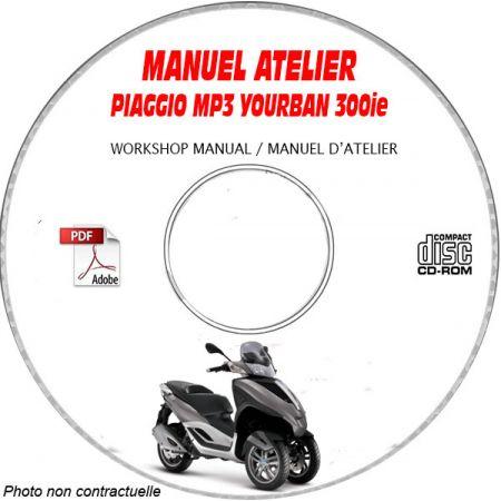 MP3 YOURBAN 300ie - Manuel Atelier CDROM PIAGGIO FR
