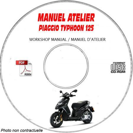 TYPHOON 125 10 Manuel Atelier PIAGGIO CDROM Revue technique