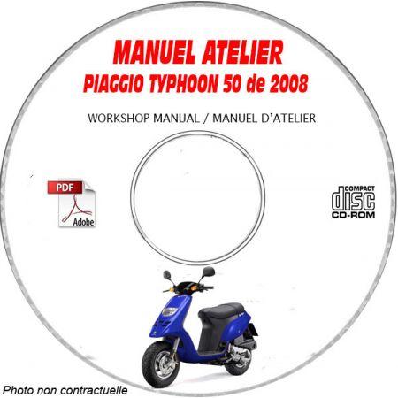 TYPHOON 50 08 Manuel Atelier PIAGGIO CDROM FR