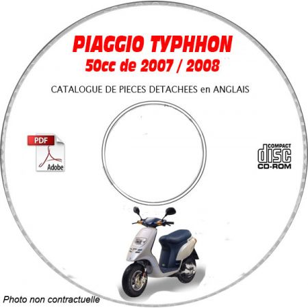 TYPHOON 50 0708 - Catalogue Pieces CDROM PIAGGIO Anglais