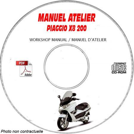 X8 200 Manuel Atelier CDROM PIAGGIO FR